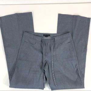 Theory Gray Linen Blend Drawstring Pants Size 6